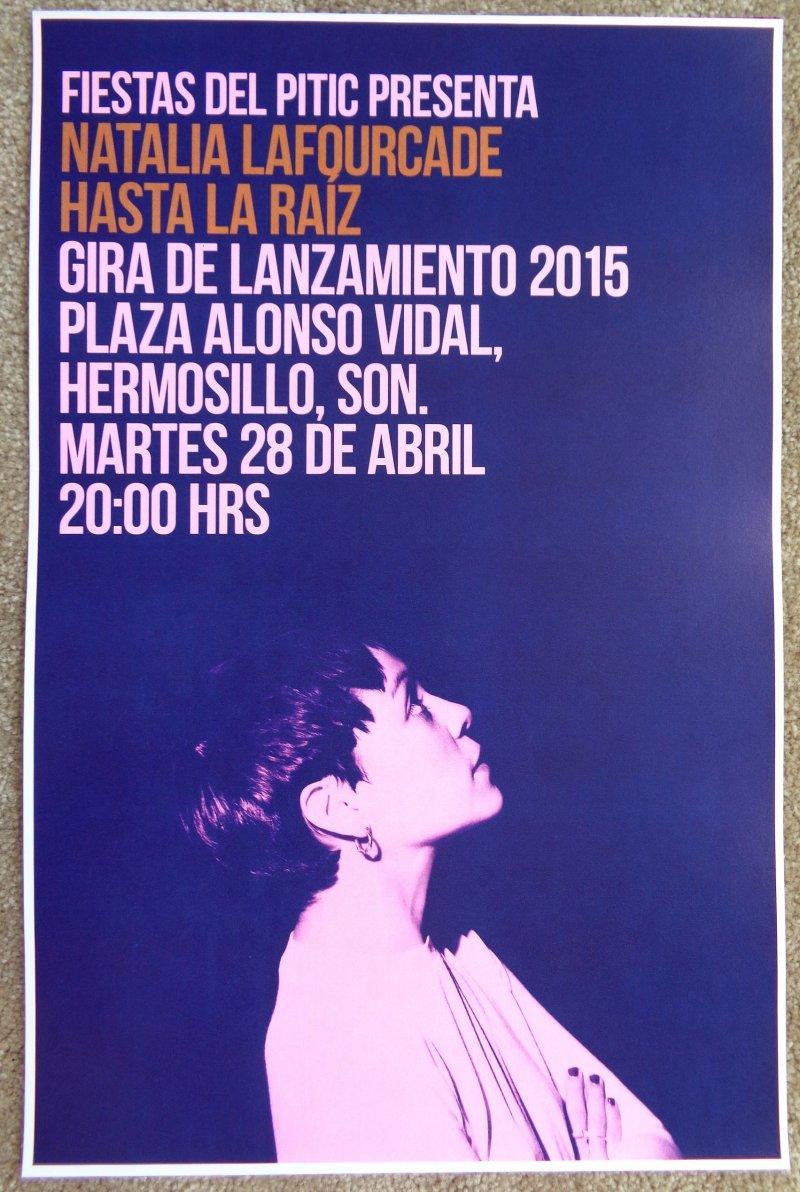 LaFourcade NATALIA LaFOURCADE 2015 Gig POSTER Mexico Concert Hermosillo Sonora