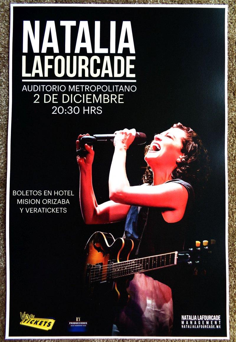 LaFourcade NATALIA LaFOURCADE 2017 Gig POSTER Mexico Concert Orizaba Veracruz