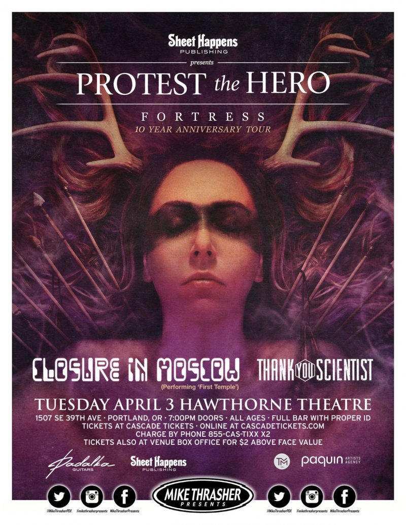 PROTEST THE HERO 2018 Gig POSTER Portland Oregon Concert