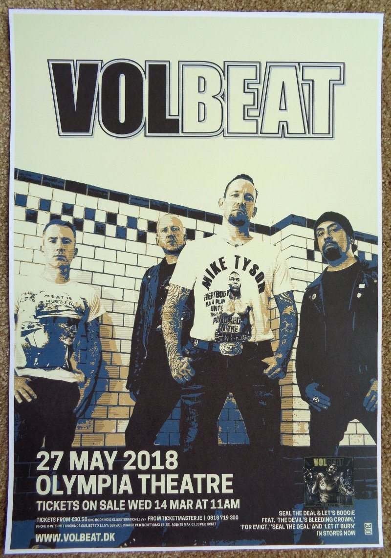 Image 0 of VOLBEAT 2018 Gig POSTER Dublin Ireland Concert