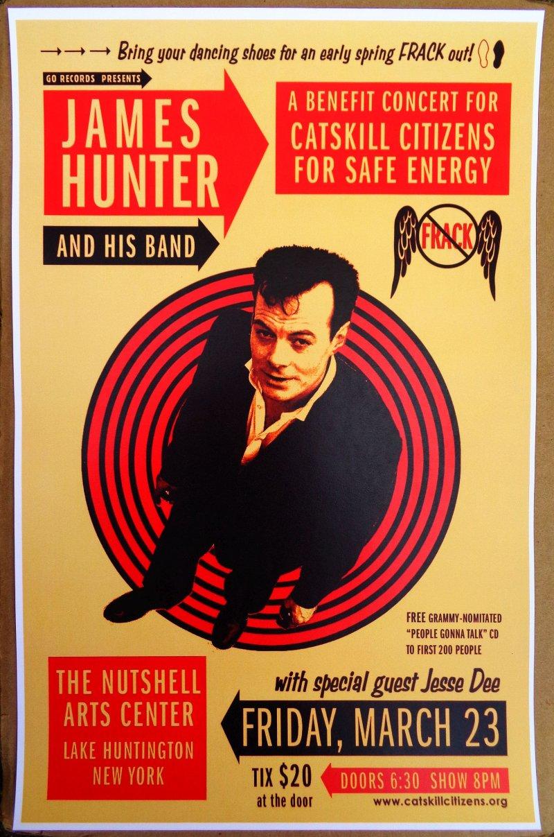 Hunter JAMES HUNTER 2012 Gig POSTER New York Concert Lake Huntington