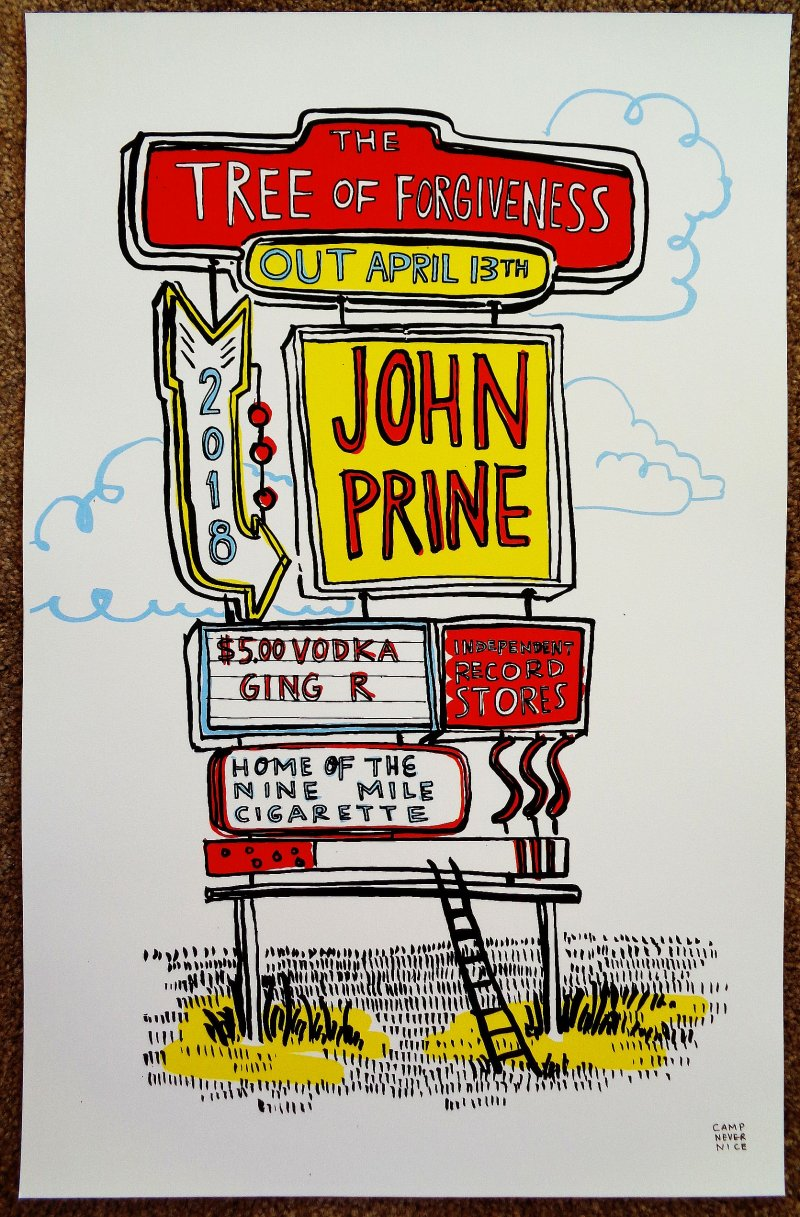 Prine JOHN PRINE Album POSTER Tree Of Forgiveness 11x17