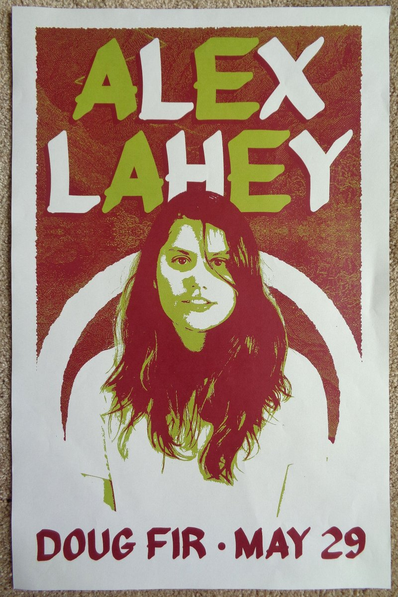 Image 0 of Lahey ALEX LAHEY 2018 Gig POSTER Portland Oregon Concert