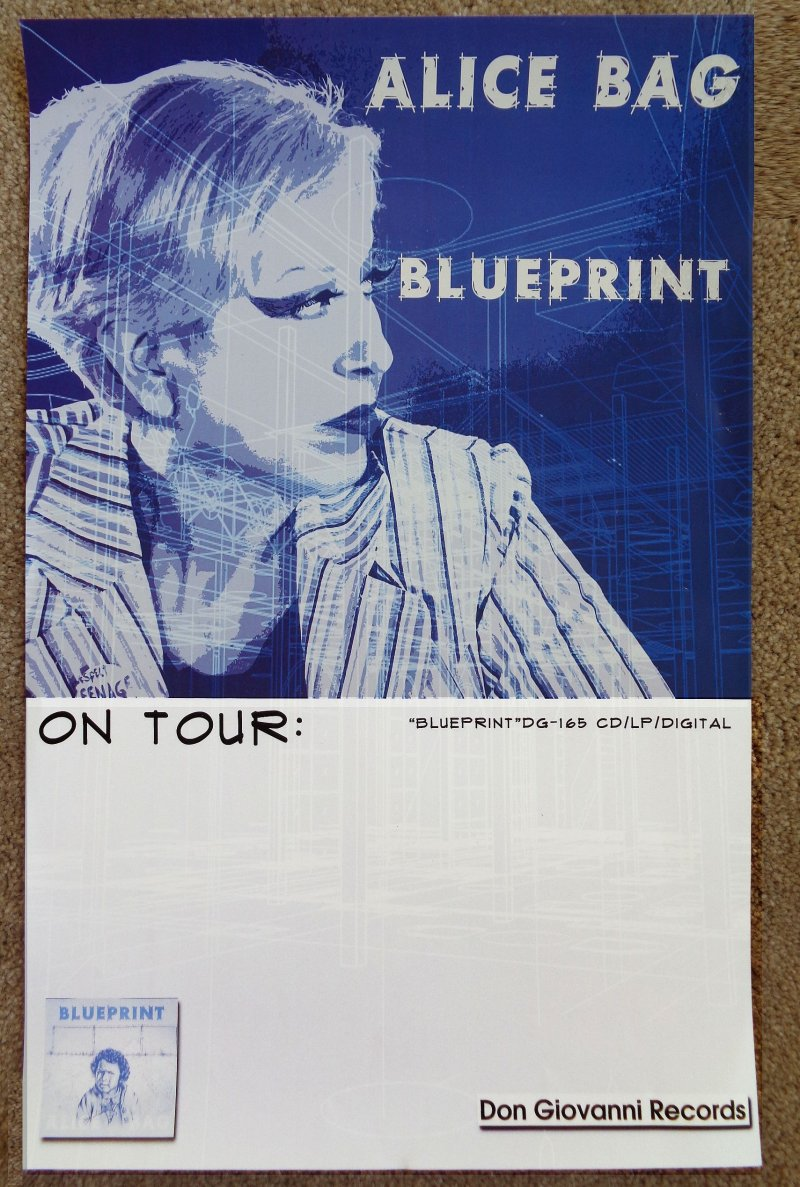Bag ALICE BAG Album POSTER Blueprint 11x17