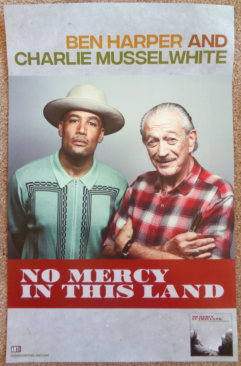 Image 0 of Musselwhite CHARLIE MUSSELWHITE & BEN HARPER Album POSTER No Mercy In This Land