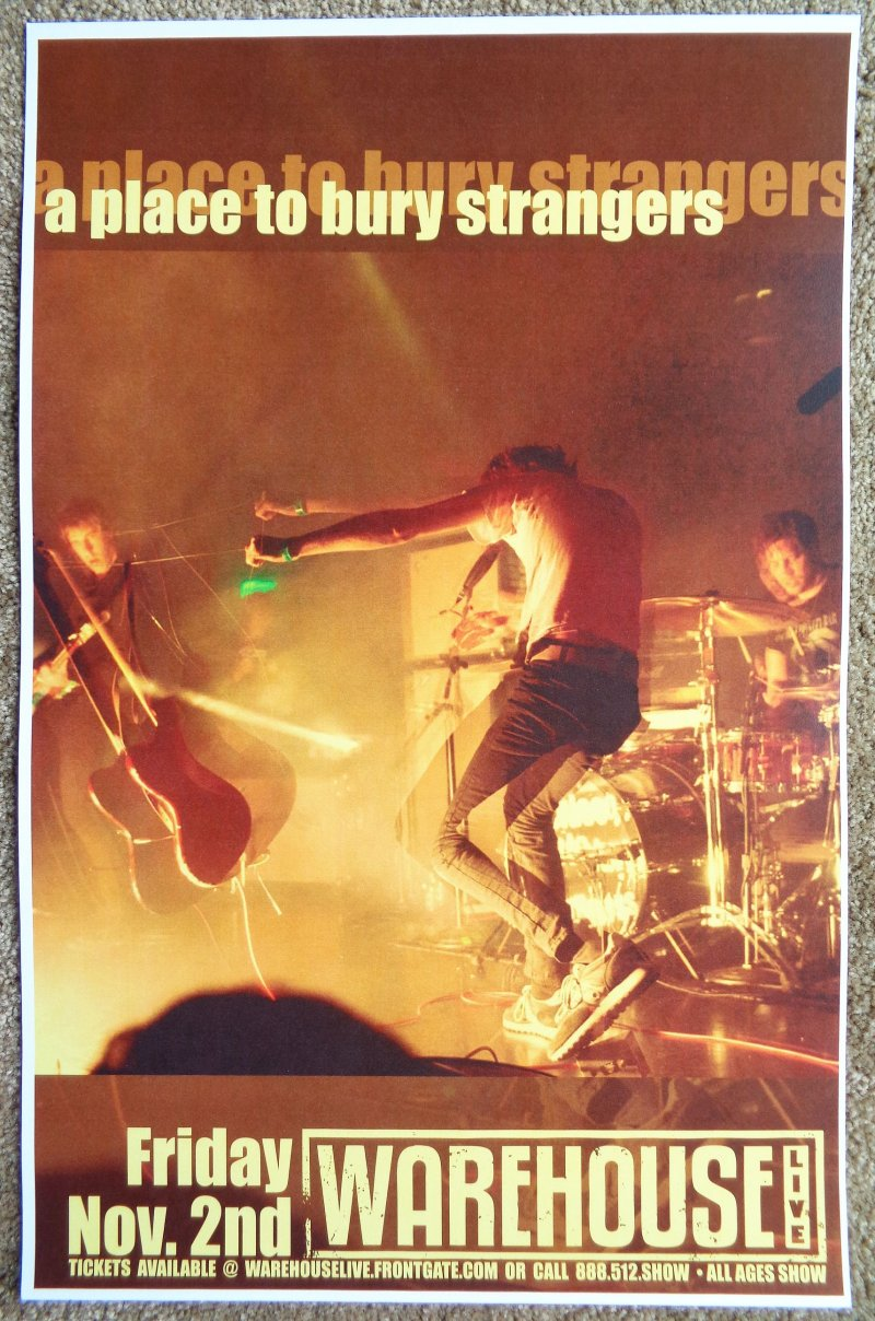 Image 0 of A PLACE TO BURY STRANGERS 2012 Gig POSTER Houston Texas Concert