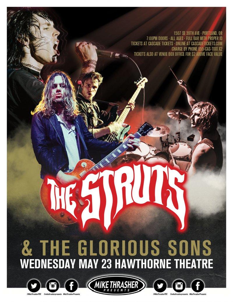 Image 0 of Struts THE STRUTS 2018 Gig POSTER Portland Oregon Concert