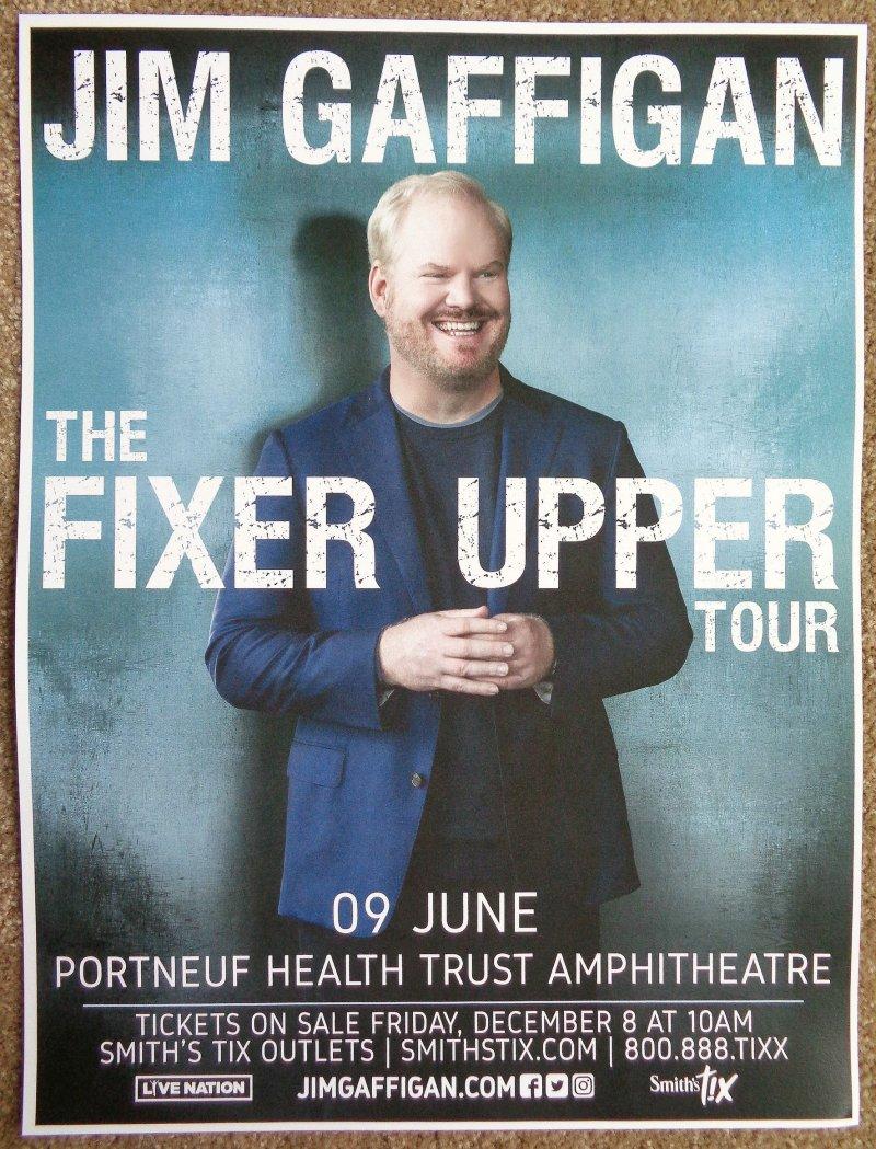 Image 0 of Gaffigan JIM GAFFIGAN 2018 POSTER Gig Comedy Pocatello Idaho