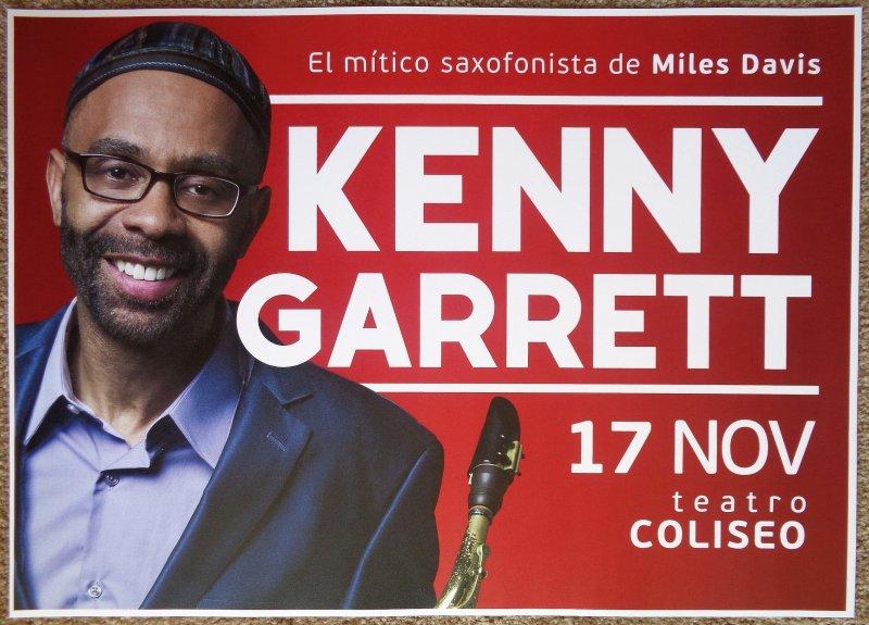 Garrett KENNY GARRETT 2017 Gig POSTER Buenos Aires Argentina Concert