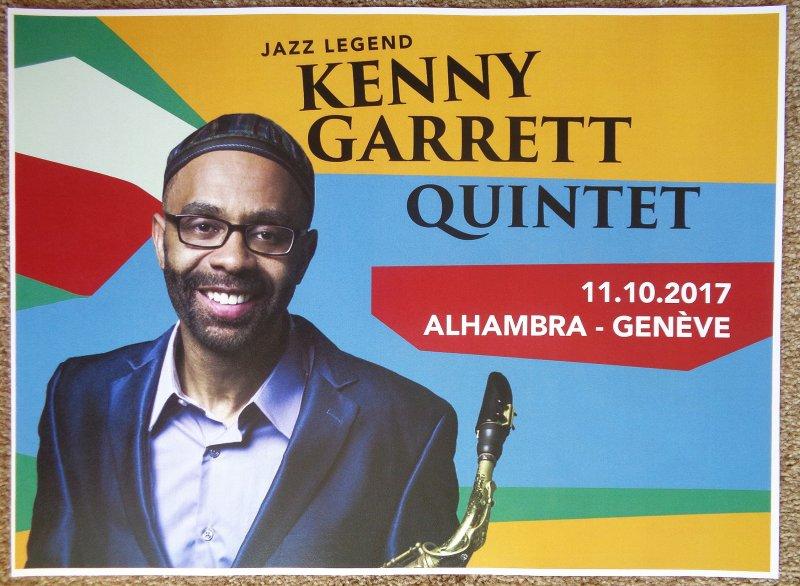Garrett KENNY GARRETT 2017 Gig POSTER Geneva Switzerland Concert