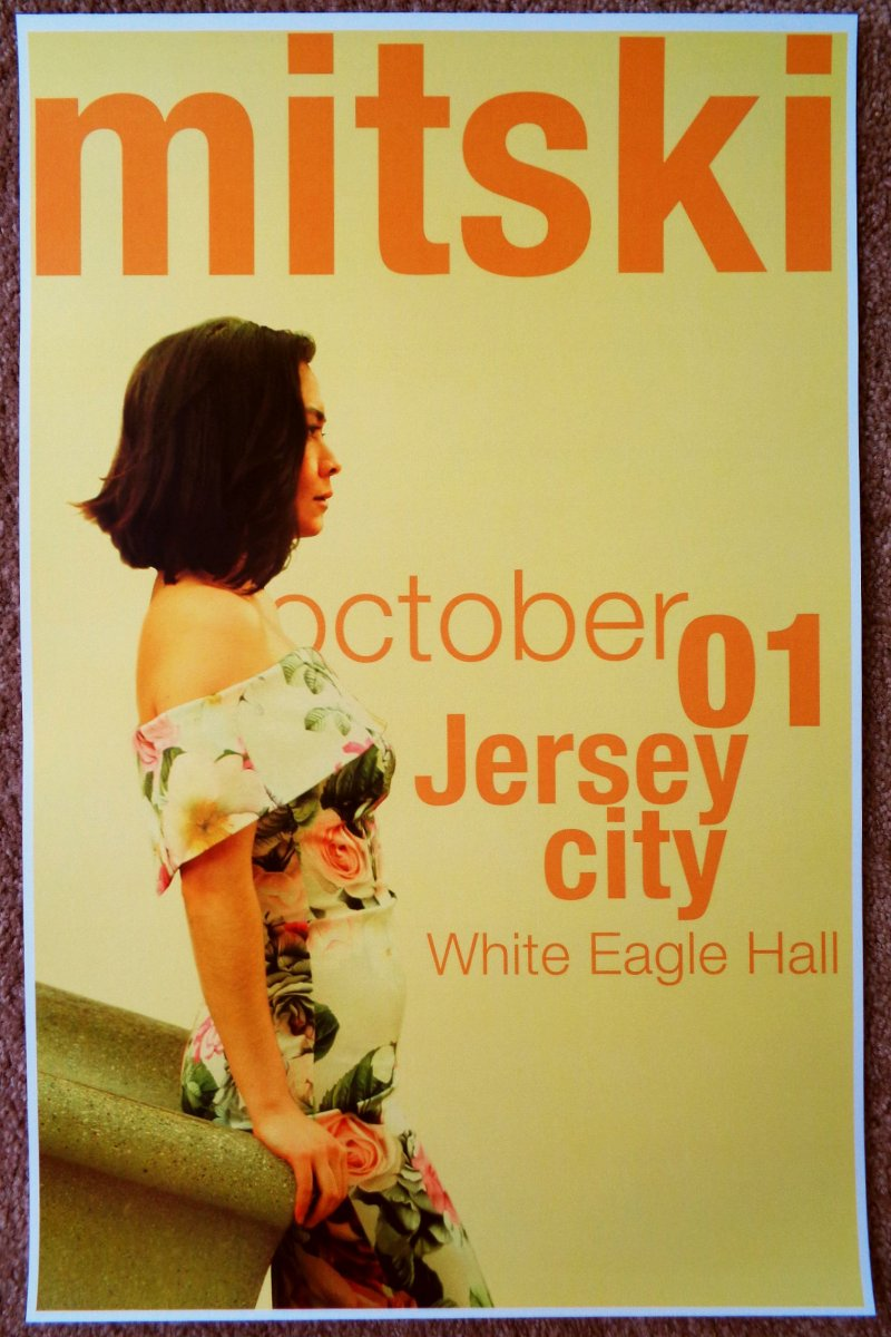 Image 0 of MITSKI 2017 Gig POSTER Jersey City New Jersey Concert