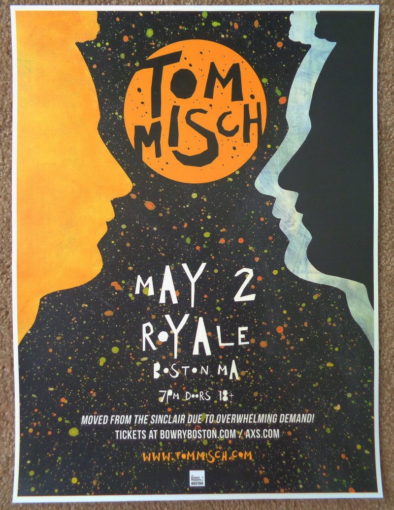 Image 0 of Misch TOM MISCH 2018 Gig POSTER Boston Massachusetts Concert