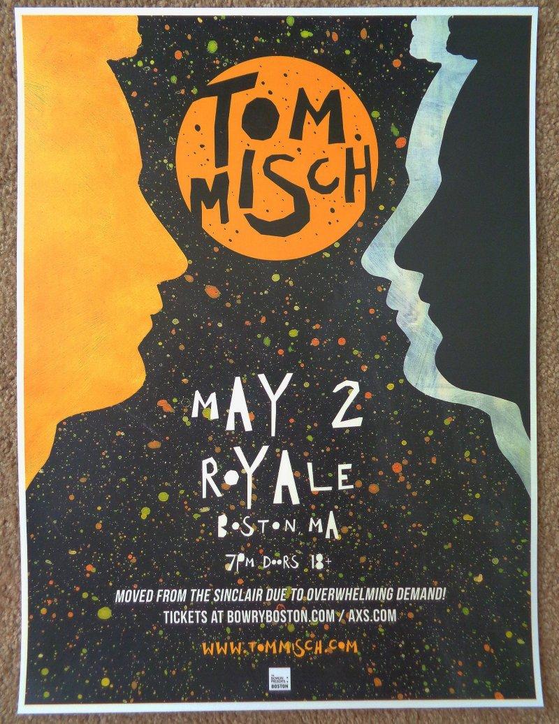 Image 0 of Misch TOM MISCH 2018 Gig POSTER Boston Massachusetts Concert