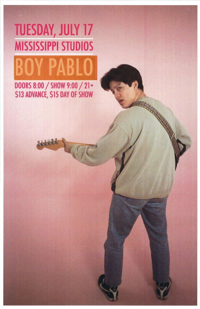 Image 0 of BOY PABLO 2018 Gig POSTER Portland Oregon Concert
