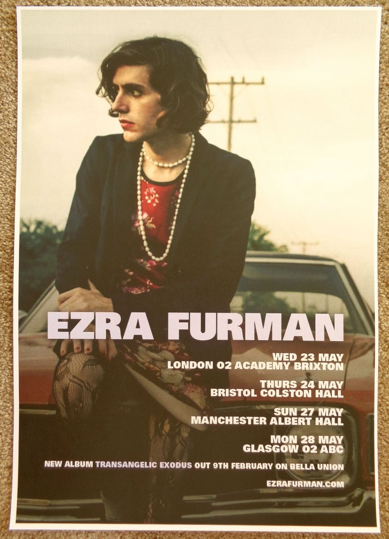 Image 0 of Furman EZRA FURMAN 2018 Tour POSTER May United Kingdom Gig Concert
