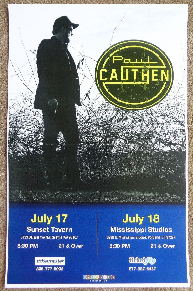 Cauthen PAUL CAUTHEN 2016 Gig POSTER Portland Oregon Seattle Washington Concert