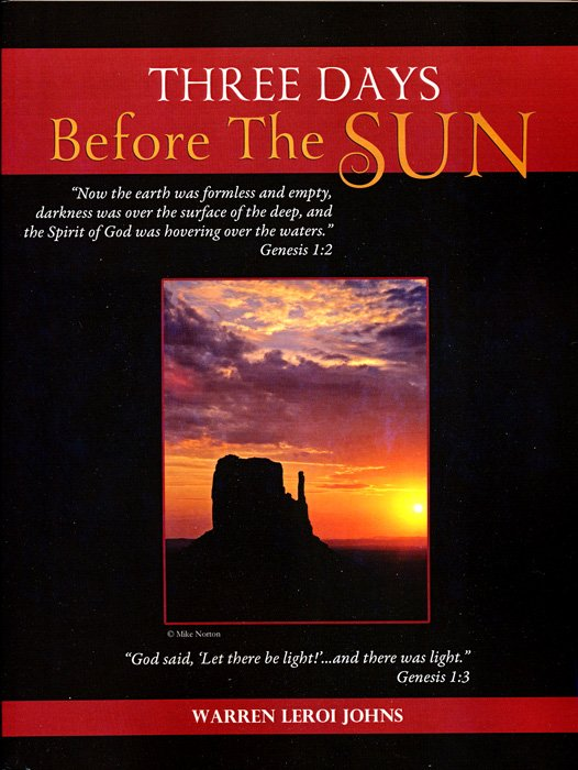 Three Days Before the Sun  by Warren Leroi Johns  Book