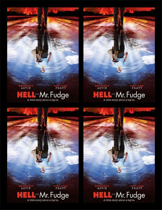 Hell and Mr. Fudge Advertising Postcards