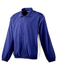 Augusta Youth Micro Poly Full Zip   Purple White   L