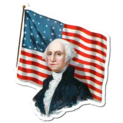 Americana   George Washington and the American Flag Decorations