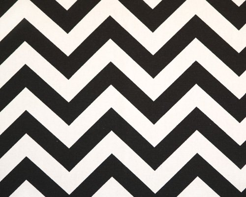 Image 0 of Black & White Chevron Custom Drapes