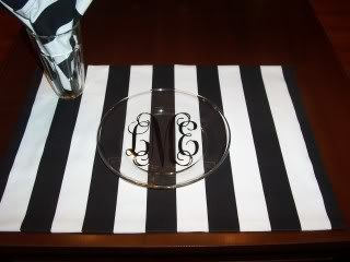 Image 1 of Canopy Stripe Black & White Tablecloths