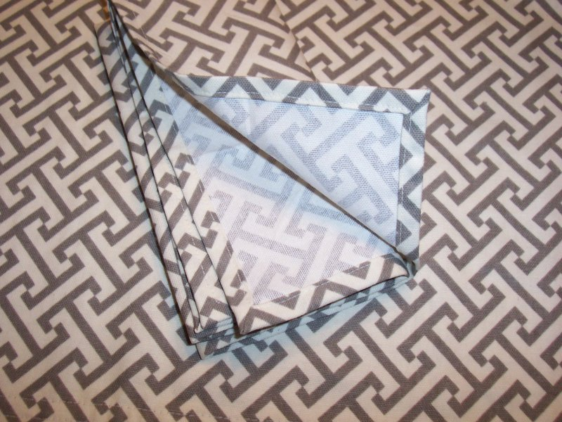 Image 2 of Canopy Stripe Gray & White Tablecloths