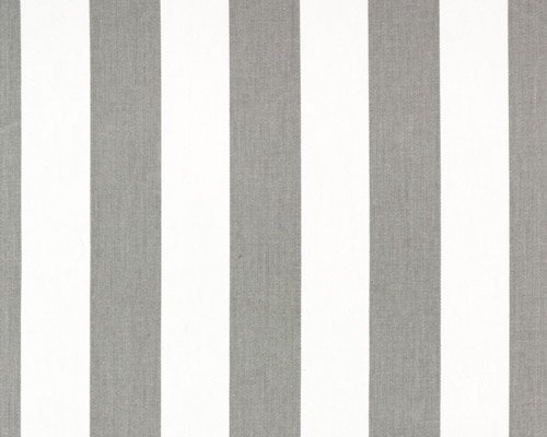 Image 1 of Extra LONG Canopy Stripe Gray & White Tablecloths