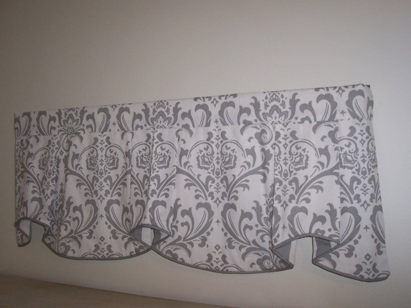 Image 2 of Traditions Damask & Stripe Cafe Valance