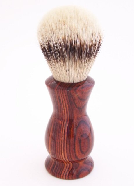 Image 0 of Cocobolo Wood 24mm Super Silvertip Shaving Brush (Handmade in USA)  C1