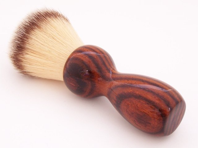 Image 0 of Cocobolo Wood 22mm Modern Synthetic Shaving Brush (Handmade on USA) C1