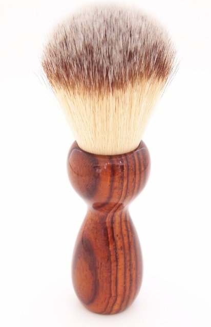 Image 1 of Cocobolo Wood 22mm Modern Synthetic Shaving Brush (Handmade on USA) C1