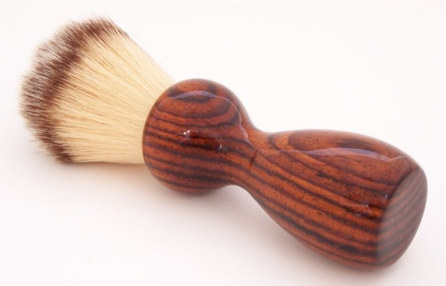 Image 0 of Cocobolo Wood 22mm Modern Synthetic Shaving Brush (Handmade on USA) C3