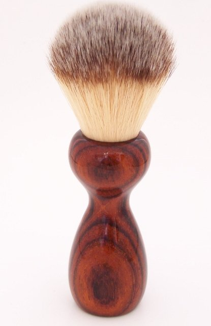 Image 1 of Cocobolo Wood 22mm Modern Synthetic Shaving Brush (Handmade on USA) C3