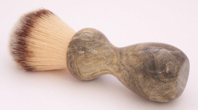 Image 0 of Buckeye Burl Wood 22mm Modern Synthetic Shaving Brush (Handmade on USA) B4