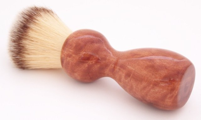 Image 0 of Curly Eucalyptus Wood 22mm Modern Synthetic Shaving Brush (Handmade on USA) E1