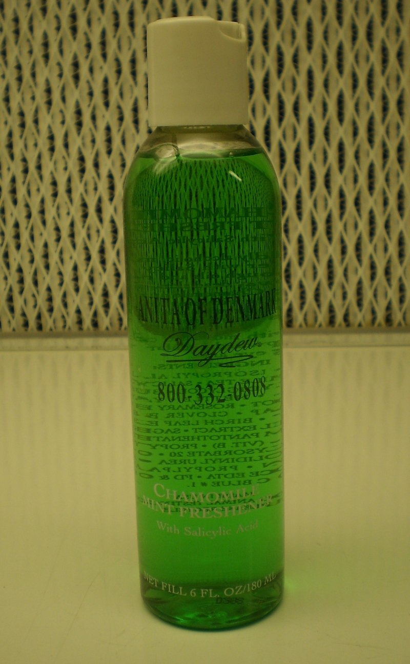 Anita Of Denmark Chamomile Mint Freshener With Salicylic Acid 6 oz/ 180 ml