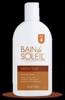 Bain De Soleil Spf4 Mega Lotion 4.4 Oz