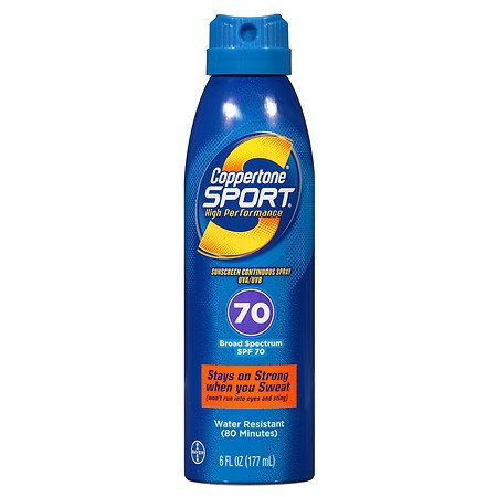 Coppertone Sport Continuous Spf 70 Spray 6 Oz