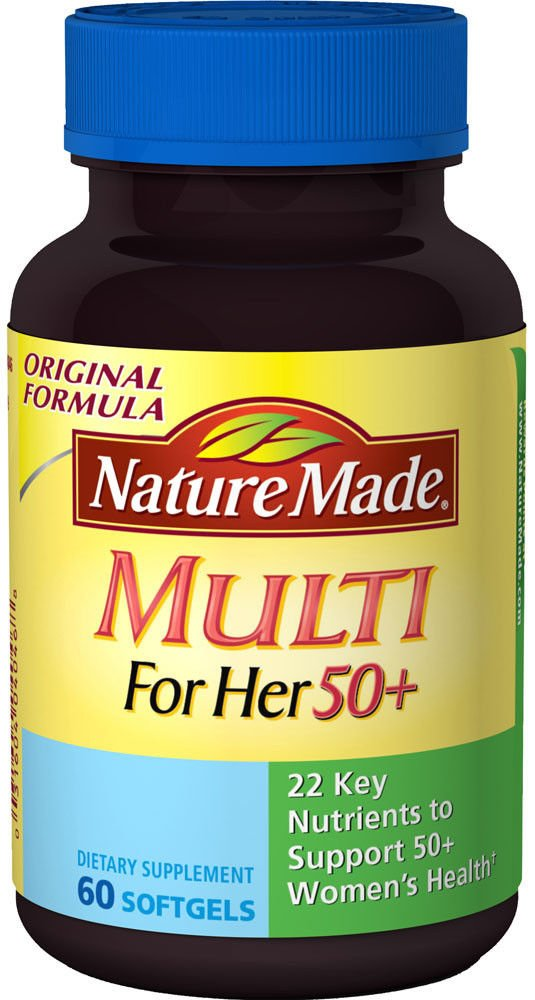 Nature Made Multivitamin For Her 50+ Soft Gel 60 Ct