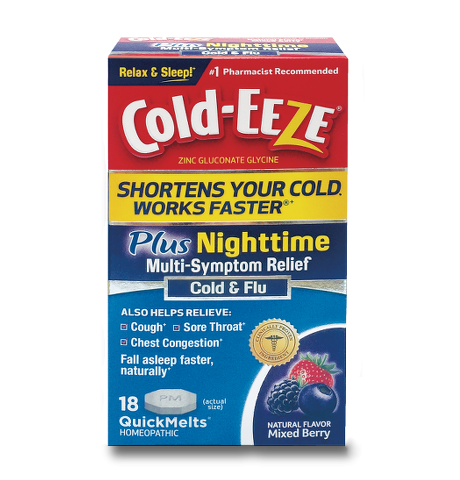 Cold-Eeze Plus Night Cold & Flu Lozenges 18 Ct