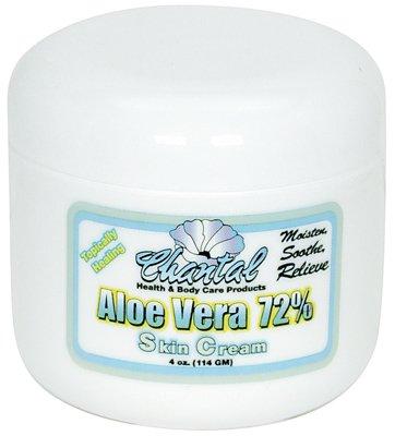 Aloe Vera Cream 72% 4oz by National Vitamin