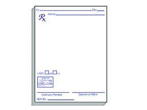 Prescription Pad Style#11 1X10