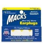Macks Pillow Soft Ear Plugs 2Pair White Silicone