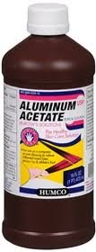 Aluminum Acetate Topical Solution Astringent 16 Oz By Humco
