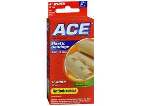Ace Elastic Bandage With Clip 4 Inch