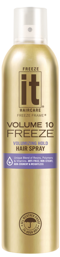 Freeze It Original Freeze Volumizing Hold Hair Spray with Optical Brighteners