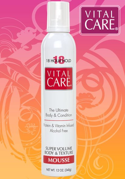 Image 0 of Vital Care Super Volume 18hr Mousse Alcohol Free 12oz