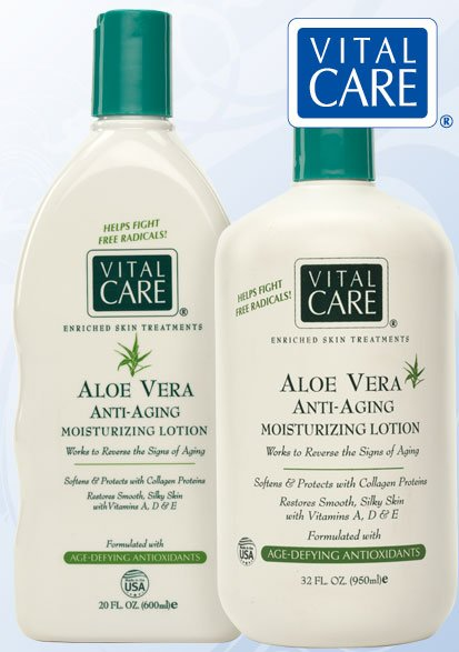 Vital Care Anti-Aging Aloe Vera Lotion Bottle w/pump 32oz