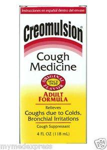 Image 0 of Creomulsion Adult Cough Syrup Formula 4 Oz